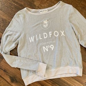 Wildfox Sweatshirt Love Potion No 9 Gray Medium